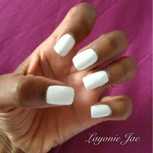 My white painted acrylics