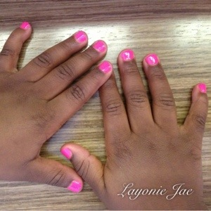 My 4 year old had her nails painted too