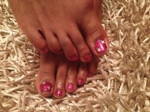 Deep pink twinkle toes