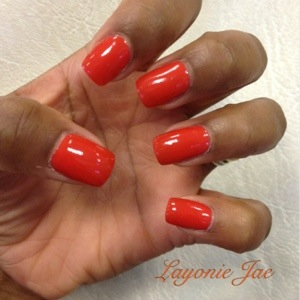 Love my orange acrylics