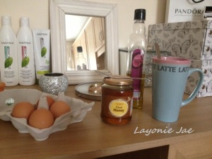 Ingredients for Layonie Jae's Egg Shampoo