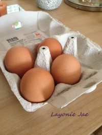Eggs for Layonie Jae's homemade egg shampoo