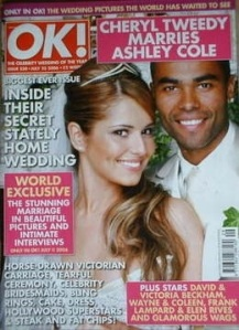 Cheryl Coles wedding in OK magazine