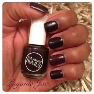 Tescos Purple rain polish