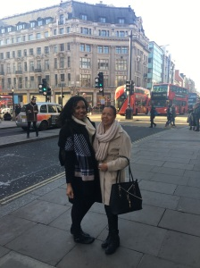 Me and Mum in Oxford Street